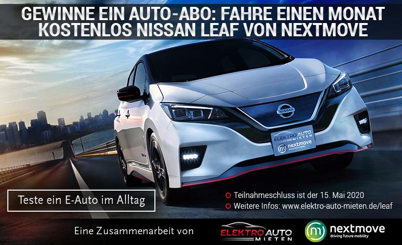 Headerbild Gewinnspiel Nissan Leaf